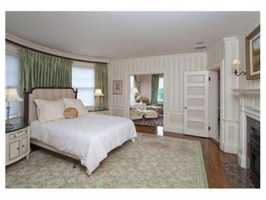 There's a beautiful 4 room master suite, with gas fireplace.