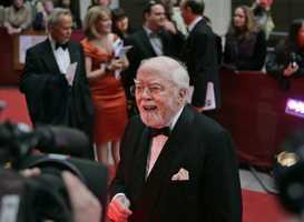 "British actor, director, producer, filmmaker and entrepreneur Richard Attenborough won two Academy Awards for directing and producing ""Gandhi"" in 1982 and was best known for his roles in ""Jurassic Park,"" ""Brighton Rock"" and ""Miracle on 34th Street."""