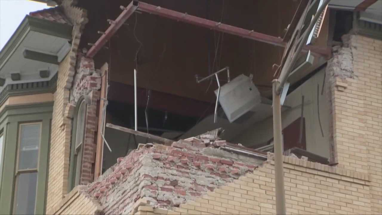 Several century old buildings damage in downtown Napa quake