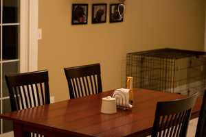 Keeping tables free of clutter helps avoid panic when unannounced guests come over.
