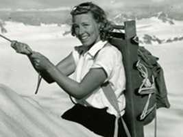 Barbara Polk Washburn, the first woman to climb Mount McKinley in Alaska, is credited along with her husband, Bradford Washburn, with transforming Boston's Museum of Science into a world-class institution.  (Nov. 10, 1914 - Sept. 25, 2014).