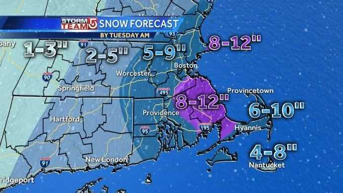 Mon 3pm map snow