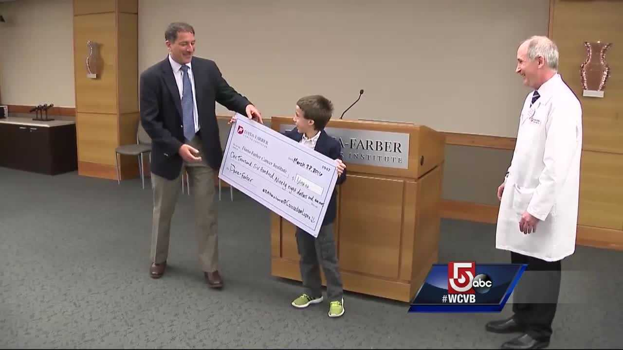 9-year-old raises money for cancer research