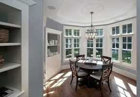 A butler's pantry between the kitchen and dining room is perfect for entertaining.