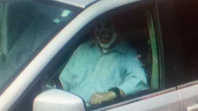 Dad in clown mask