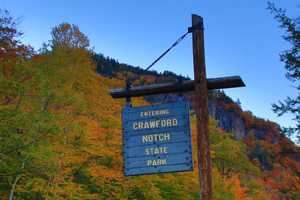 The colors in Crawford Notch State Park, along U.S. Route 302, were at peak, or slightly past peak as of Friday, October 14. However, the trees still look spectacular!