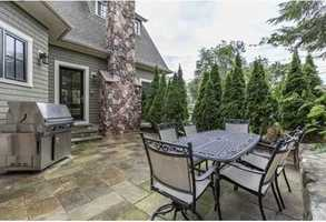 Off the Family room is a stone patio great for entertaining.