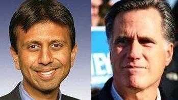Bobby Jindal and Mitt Romney - 30874328
