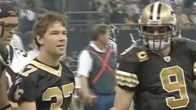 Steve Gleason at Superdome with Brees - 30375125