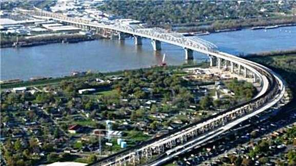 Huey P. Long Bridge (aerial)