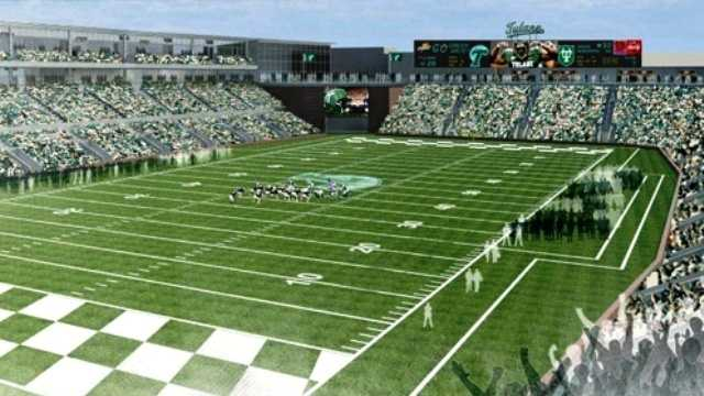 Tulane University's football program will soon compete in an on-campus stadium now under development.