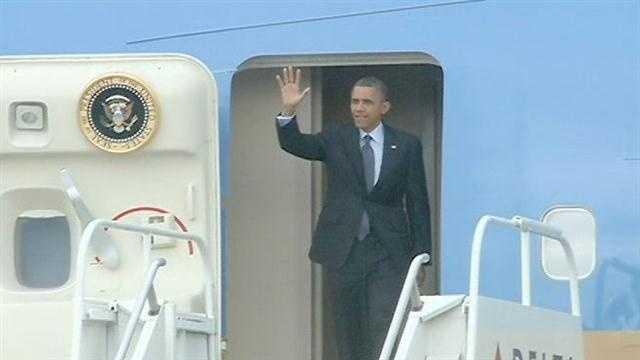 President Barack Obama lands in New Orleans (2012)