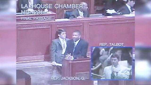 Video shows state representative lobbying for agency that gave him contract