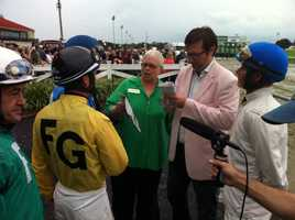 The jockeys said it was the strangest race in which they had competed.