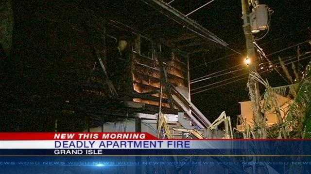 Two killed in fire at Grand Isle apartment complex