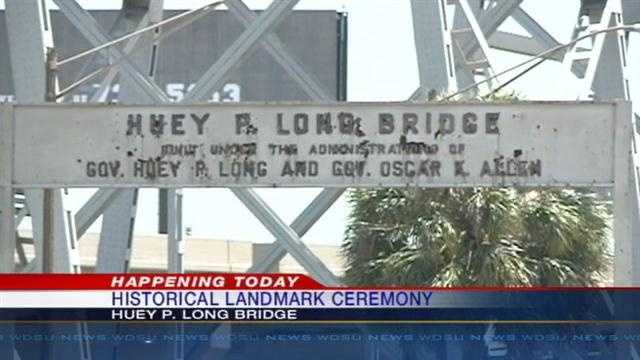 Jefferson Parish bridge named in honor of assassinated Louisiana Gov. Huey P. Long, will be named a historical engineering landmark.
