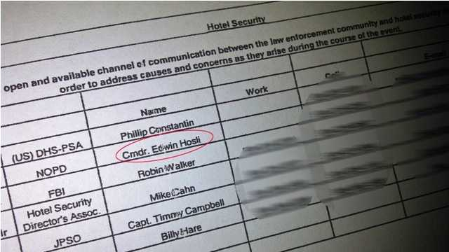 Documents show Ed Hosli on Super Bowl hotel security subcommittee