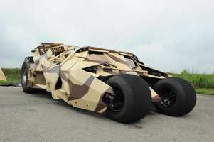 """2005, 2008, 2012 Batmobile """"The Tumbler"""" (Batman Begins, The Dark Knight, The Dark Knight Rises): The creation of the Tumbler first started when production designer Nathan Crowley and director Christopher Nolan bought a bunch of model kits and """"kit-bashed"""" until they came up with a hybrid of a Humvee and Lamborghini."""