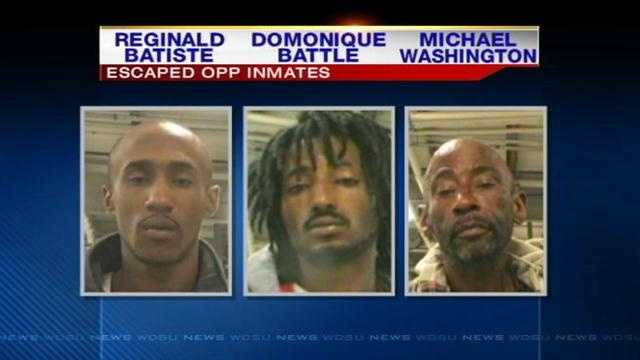 Search continues for 3 escaped OPP inmates