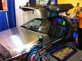 The DeLorean from the Back to the Future films appeared at the Comic Con.
