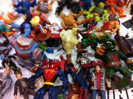 Toys are also for sale from yesteryear at the comic con.