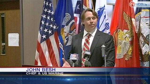 John Besh honored at Belle Chasse naval station