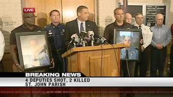 Aug. 16, 2012: Five people were arrested in St. John the Baptist Parish after a shooting killed two St. John the Baptist Parish deputies and left two others wounded. Read the story
