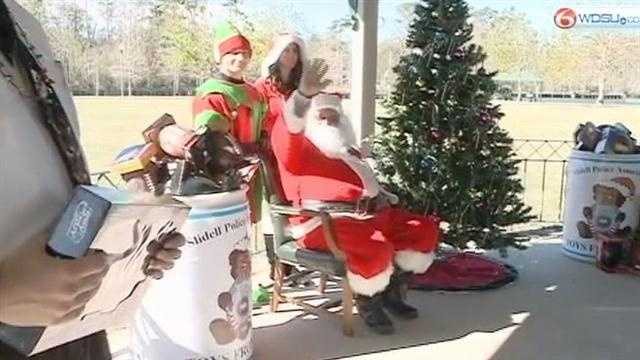 Children in the Slidell area got an early visit from Santa Claus Friday, all thanks to the Slidell Police Association. It's all part of an effort to build a partnership between the police department and the community.