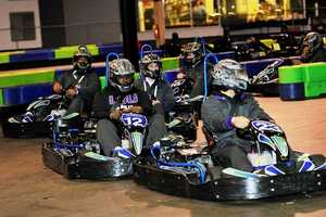 The Tigers wrapped up a busy Thursday with a few laps around the track at Andretti Indoor Racing.