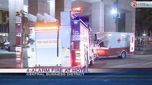 Four-alarm fire breaks out at Hotel InterContinental