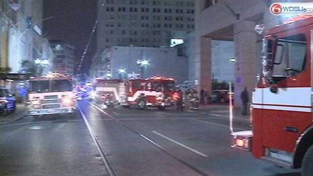 InterContinental New Orleans isn't taking any additional reservations, but they are honoring existing ones after a fire broke out in the laundry room Saturday night.
