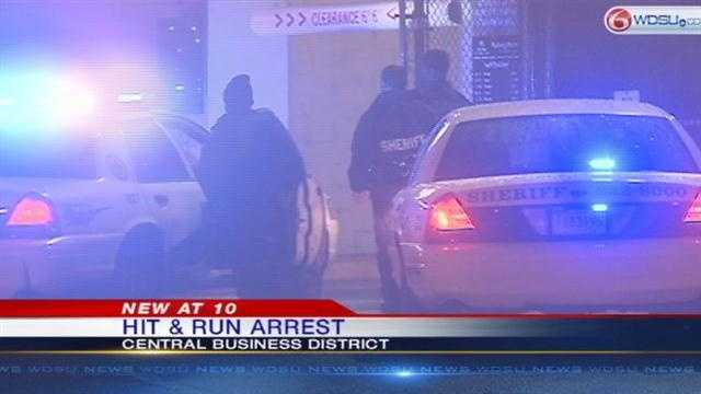 Woman hits deputy's car in hit-and-run