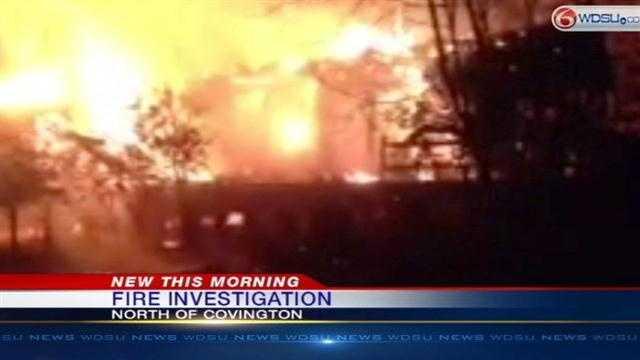 Firefighters investigate overnight fire in Covington