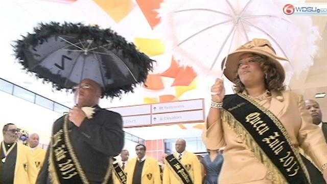 The Queen of Zulu arrives