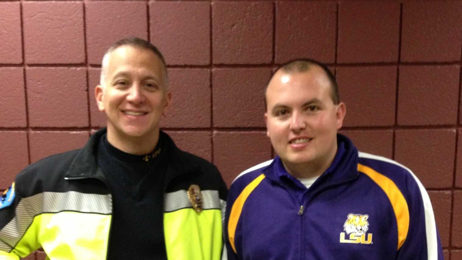 Chief Silverii and Justin Tabor