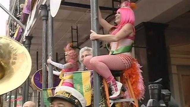 Raw Video: Annual greasing of the poles begins heavy Carnival weekend