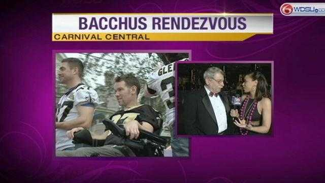 This year's Bacchus was G.W. Bailey, but Steve Gleason also rolled with the Krewe.