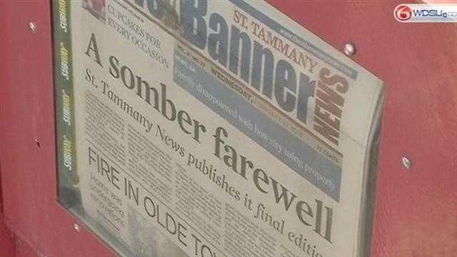 St. Tammany News Banner prints final paper, closes doors