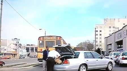 A school bus with about 20 students on board was involved in an accident in Mid-City on Friday afternoon.