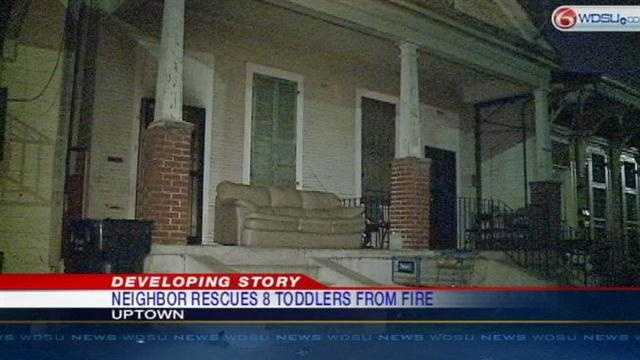 Neighbor saves 8 toddlers from burning Uptown home Wednesday