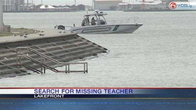 Searches were conducted around the Lakefront and City Park.