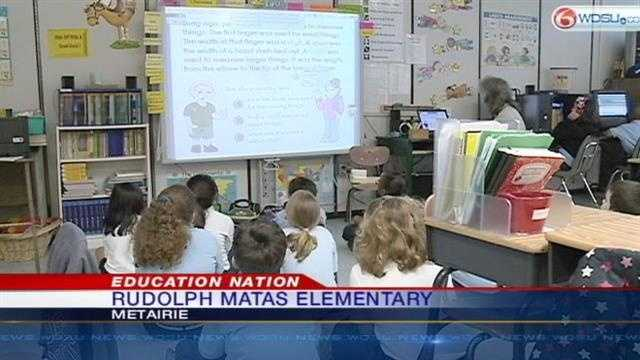Rudolph Matas Elementary keeps students focused with technology