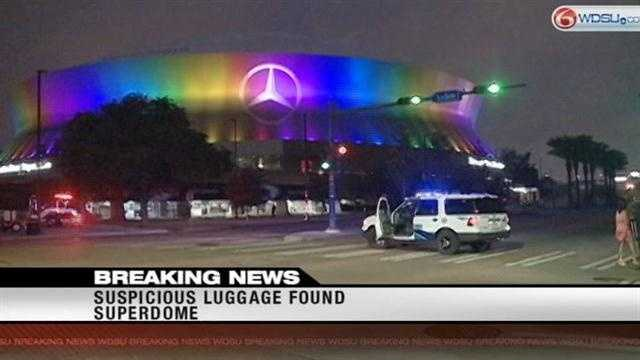 New Orleans SWAT investigate suspicious luggage found in Superdome garage
