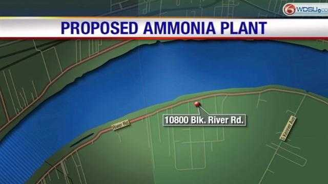 Ammonia plant to be built in Jefferson Parish.