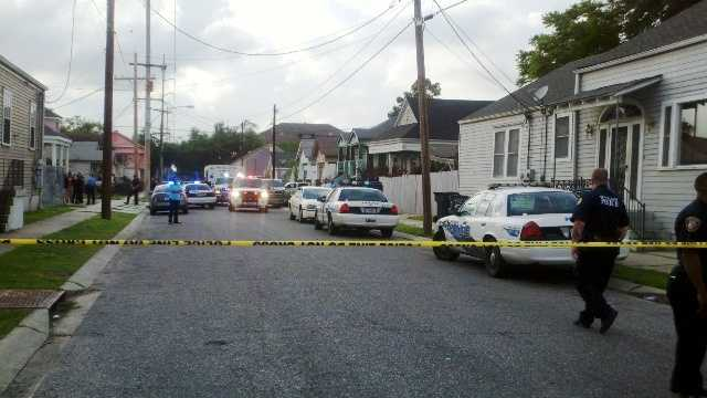 New Orleans police investigate a deadly shooting in the 4000 block of Baudin Street.