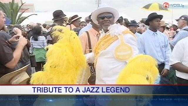 Uncle Lionel Batiste remembered at Jazz Fest Sunday