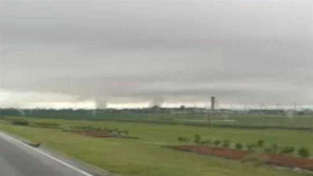 Two tornadoes caught on camera during April 24 severe weather