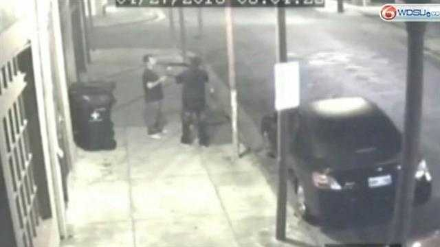 Revisiting the site where a victim turned the tables on an armed robber
