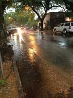 Wet streets in Uptown New Orleans