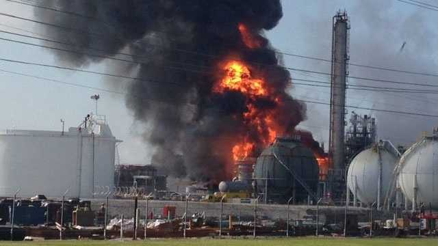 Louisiana chemical plant fire